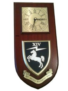 14th Signal Regiment EW Military Wall Plaque Clock